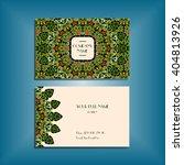 oriental business card mockup... | Shutterstock .eps vector #404813926