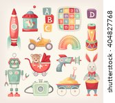 colorful retro toys from the 60 ... | Shutterstock .eps vector #404827768
