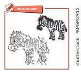 dot to dot educational zebra... | Shutterstock .eps vector #404842912