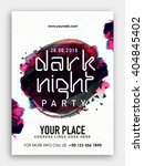 dark night party template ... | Shutterstock .eps vector #404845402