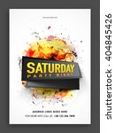 saturday party night template ... | Shutterstock .eps vector #404845426