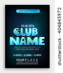 club party template  dance... | Shutterstock .eps vector #404845972