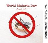 world malaria day  no mosquito | Shutterstock . vector #404847796