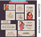 creative social media post and... | Shutterstock .eps vector #404849755