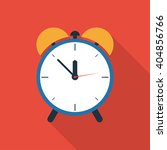 alarm clock icon with long... | Shutterstock .eps vector #404856766