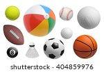 collection of sport balls... | Shutterstock . vector #404859976