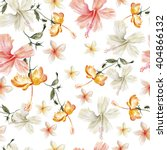watercolor pattern with... | Shutterstock . vector #404866132