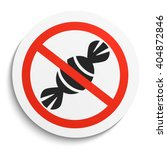 no sweets and candies... | Shutterstock .eps vector #404872846