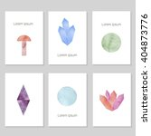 set of creative cards with hand ...   Shutterstock .eps vector #404873776