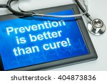 tablet with the text prevention ... | Shutterstock . vector #404873836
