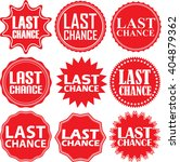 last chance red label. last... | Shutterstock .eps vector #404879362