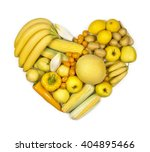 Heart Of Yellow Fruits And...