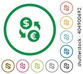 set of dollar euro exchange...