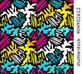 colored graffiti seamless... | Shutterstock .eps vector #404902612