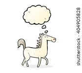 cartoon horse with thought... | Shutterstock .eps vector #404905828