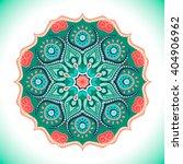 mandala. vector ornament ...   Shutterstock .eps vector #404906962