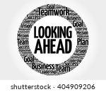 looking ahead circle word cloud ... | Shutterstock .eps vector #404909206