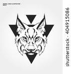 abstract animal logo. hipster... | Shutterstock .eps vector #404915086