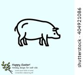 web line icon. pig  livestock | Shutterstock .eps vector #404921086