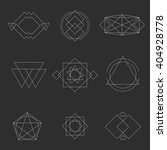 set geometric shapes signs ... | Shutterstock .eps vector #404928778