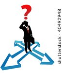 a business man faces indecision ... | Shutterstock .eps vector #40492948