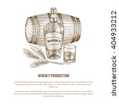 vector whisky production... | Shutterstock .eps vector #404933212