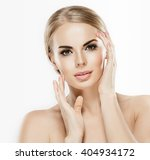 beautiful woman face close up... | Shutterstock . vector #404934172
