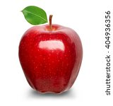 ripe red apple isolated on a... | Shutterstock . vector #404936356