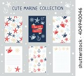 cute hand drawn set marine... | Shutterstock .eps vector #404940046