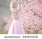beautiful spring girl with... | Shutterstock . vector #404941018