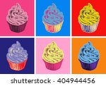 set of cupcake vector... | Shutterstock .eps vector #404944456
