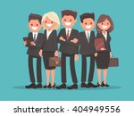 business team led by the chief. ... | Shutterstock .eps vector #404949556