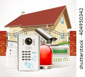 home access control system  ... | Shutterstock .eps vector #404950342