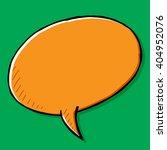 orange hand drawn speech bubble....   Shutterstock .eps vector #404952076