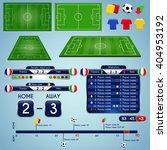 broadcast graphics for sport... | Shutterstock .eps vector #404953192