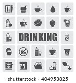 drinking icons set | Shutterstock .eps vector #404953825