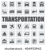 transportation icons set | Shutterstock .eps vector #404953942