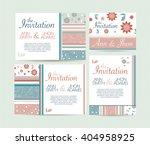 wedding invitation card suite... | Shutterstock .eps vector #404958925