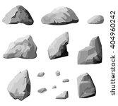 set of stones  rock elements... | Shutterstock .eps vector #404960242