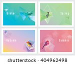 modern colorful four seasons... | Shutterstock .eps vector #404962498