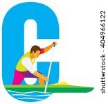 sports alphabet. letter c. canoe | Shutterstock . vector #404966122