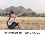 girl in the meadow   Shutterstock . vector #404978722