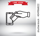 line icon  credit  card  mobile | Shutterstock .eps vector #404986822