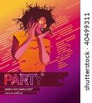 partygirl wallpaper pink | Shutterstock .eps vector #40499311