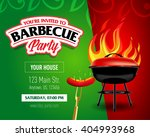 barbecue party design template  ... | Shutterstock .eps vector #404993968
