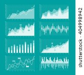 business charts and graphs... | Shutterstock .eps vector #404998942