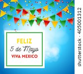 poster elements with spanish... | Shutterstock .eps vector #405001312
