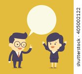 business people talk with... | Shutterstock .eps vector #405002122