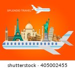 high detailed most famous world ... | Shutterstock .eps vector #405002455