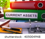 current assets   green office... | Shutterstock . vector #405004948